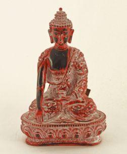 BUDDHA GAMBE INCROCIATE IN RESINA WHITE RED CM H25X17X11 E